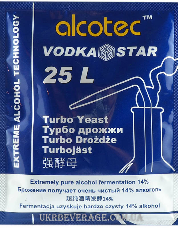 Спиртовые турбо дрожжи ALCOTEC VODKA STAR Turbo